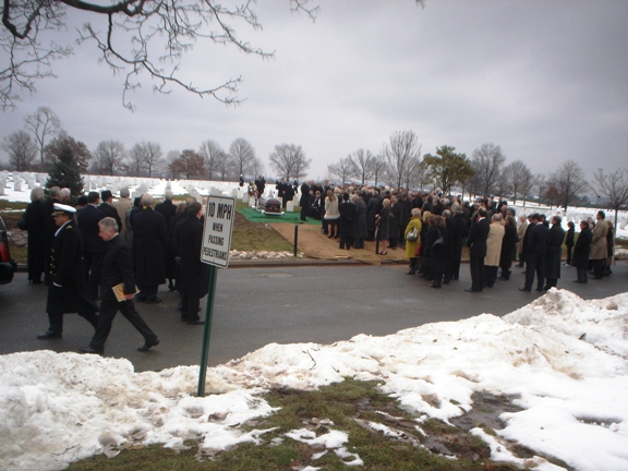 Hundreds gathered graveside for the internment of Charlie Wilson