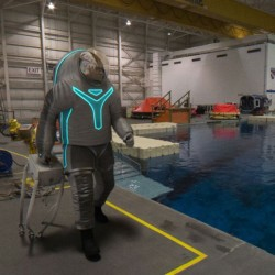 "NASA's ""Technology"" spacesuit design is among three options for a planned prototype to be built in November."