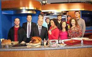 Some of the crew along with Grant, Dia, Lane and me. My son Justin is right behind me! He operates a camera on GMET.